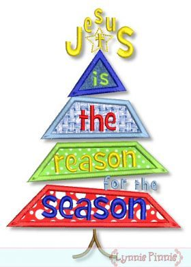 Jesus is the Reason for the Season Christmas Tree 4x4 5x7 6x10