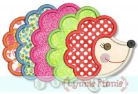 Colorful Hedgehog Applique 4x4 5x7
