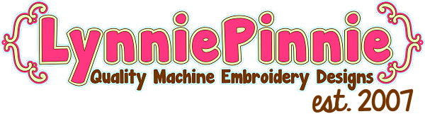 - Welcome to Lynnie Pinnie.com! Instant download and free applique machine embroidery designs in PES, HUS, JEF, DST, EXP, VIP, XXX AND ART formats.