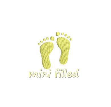 baby feet applique mini 4x4 5x7 6x10 march of dimes. Black Bedroom Furniture Sets. Home Design Ideas