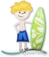 Surfer Boy Applique 4x4 5x7