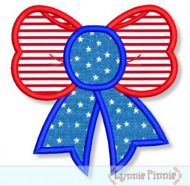 Two Color Bow Applique 4x4 5x7 6x10