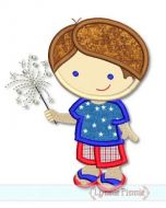 Sparkler Cutie Boy Applique 4x4 5x7 6x10 SVG