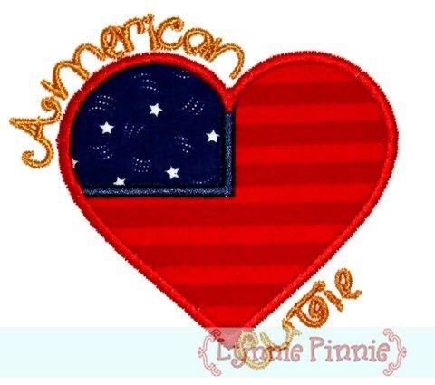 FREE American Cutie Applique 4x4 5x7