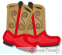 Applique Cowboy Boots 4x4 & 5x7