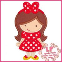 Big Bow Cutie 1 Applique 4x4 5x7 6x10 SVG