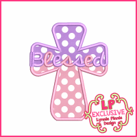 Blessed Cross Applique Design 4x4 5x7 6x10 7x11