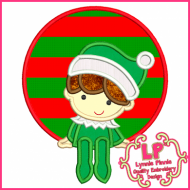 Boy Elf Circle Frame 4x4 5x7 6x10 7x11 SVG