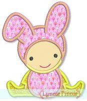 Bunny Baby Applique 4x4 5x7