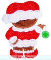 Mischievous Christmas Bear Applique 4x4 5x7 6x10 7x11 SVG