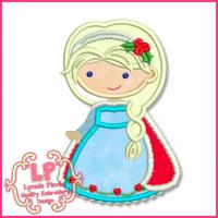 Christmas Princess 6 Applique 4x4 5x7 6x10 SVG