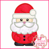 Chunky Santa Applique 4x4 5x7 6x10 SVG