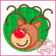 Circle Frame Reindeer Boy 4x4 5x7 6x10 7x11 SVG
