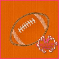 Colored Pencil Football Applique Embroidery Design 4x4 5x7 6x10 7x11