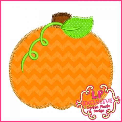Colored pencil pumpkin applique embroidery design
