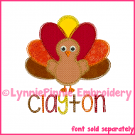 Colored Pencil Turkey Applique Embroidery Design 4x4 5x7 6x10 7x11
