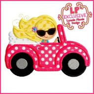 Convertible Buggy Car Girl 4x4 5x7 6x10 SVG