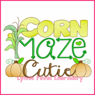 Corn Maze Cutie Filled Embroidery 4x4 5x7 6x10 7x11