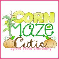 Corn Maze Cutie Filled Embroidery 4x4 5x7 6x10 7x11