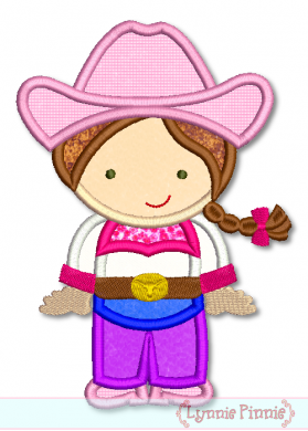 Cowgirl Cutie Applique 4x4 5x7 6x10 SVG