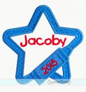Crayon Star Applique 4x4 5x7 6x10 7x11 SVG