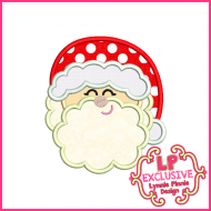 Cute Santa 2 Applique Design 4x4 5x7 6x10 7x11