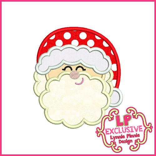 Cute Santa 2 Applique Design 4x4 5x7 6x10 7x11