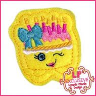 Cutie Kawaii Birthday Cake Felt Clippie