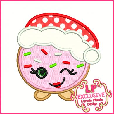 Cutie Kawaii Christmas Cookie Applique 4x4 5x7 6x10 7x11 SVG