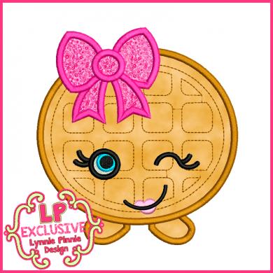 Cutie Kawaii Waffle Applique 4x4 5x7 6x10 7x11 SVG