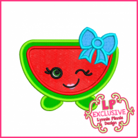 Cutie Kawaii Watermelon Applique 4x4 5x7 6x10 7x11 SVG
