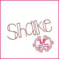 Shake it Up Triple Stitch Font Uppercase & Lowercase DIGITAL Embroidery Machine File -- 3 sizes + BX