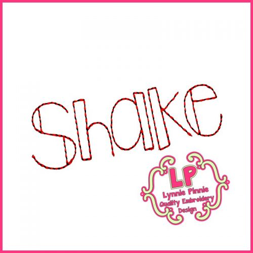 Shake it Up Triple Stitch Font Uppercase & Lowercase DIGITAL Embroidery Machine File -- 3 sizes + BX