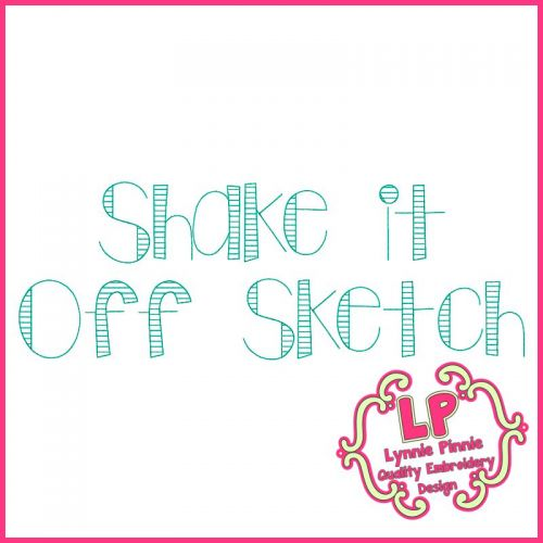 Shake it Up Sketch Stitch Font Uppercase & Lowercase DIGITAL Embroidery Machine File -- 3 sizes + BX