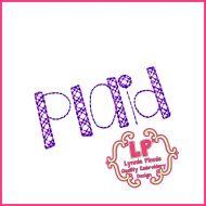 Shake it Up Plaid Pattern Stitch Embroidery Font Uppercase & Lowercase Font Uppercase & Lowercase DIGITAL Embroidery Machine File -- 3 sizes + BX