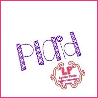 Shake it Up Plaid Pattern Stitch Embroidery Font Uppercase & Lowercase Font Uppercase & Lowercase DIGITAL Embroidery Machine File -- 3 sizes + BX