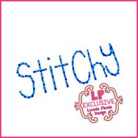 Stitchy Tall Hand Stitched Look Font Uppercase & Lowercase DIGITAL Embroidery Machine File -- 3 sizes + BX