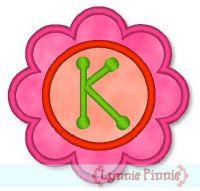 Applique Flower Font 2 4x4 5x7