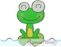 Silly Frog 1 - Filled 4x4 & 5x7