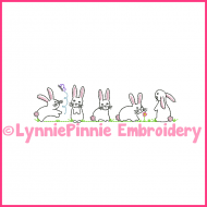 ColorWork Simple Bunnies Machine Embroidery Design File 4x4 5x7 6x10