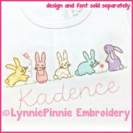 Simple Bunnies Applique Machine Embroidery Design 4x4 5x7 6x10 7x11