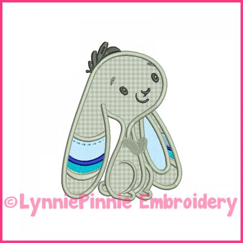 Tribal Bunny 2 Boy Applique Machine Embroidery Design File 4x4 5x7 6x10 7x11