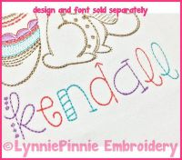 Only Hope Simple ColorWork Sketch Whimsical Funky Font - Triple Run DIGITAL Embroidery Machine File -- 3 sizes + BX