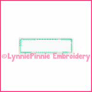 Vintage Funky Patch Rectangle Frame 2 Applique Embroidery Design 4x4 5x7 6x10 7x11