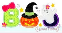 Girly BOO Applique 4x4 5x7 6x10 SVG