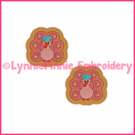 Swirly Girly TURKEY Felt Clippie Embroidery Design 4x4