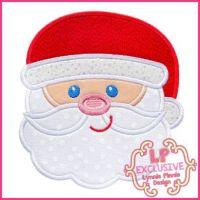 Happy Santa Applique 4x4 5x7 6x10 7x11 SVG