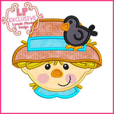 Happy Scarecrow Boy Applique 4x4 5x7 6x10 7x11 SVG
