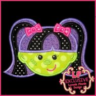 Happy Frankie's Girl Applique 4x4 5x7 6x10 7x11 SVG