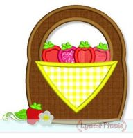Strawberry Basket Applique 4x4 5x7 6x10